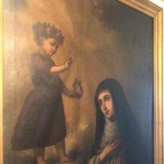 Arte: ÓLEO SANTA TERESA SIGLO XIX. Lote 166281086