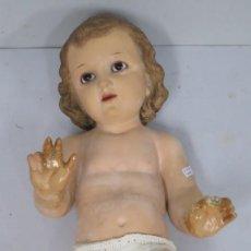 Arte: BONITO NIÑO JESUS DE OLOT. OJOS DE CRISTAL. Lote 167549808