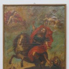 Arte: CONVERSION DE SAN PABLO. OLEO S/ LIENZO. ESC. ESPAÑOLA. SIGLO XVIII. Lote 167550104