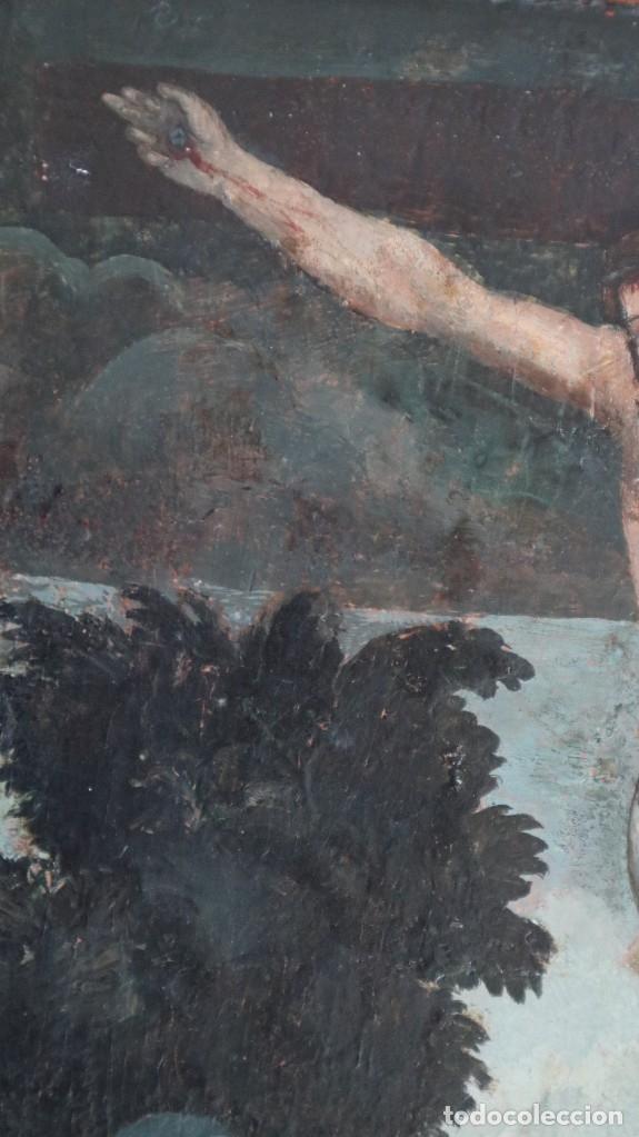 Arte: Calvario. Oleo sobre tabla. Escuela flamenca. Siglo XVI. - Foto 27 - 117955635