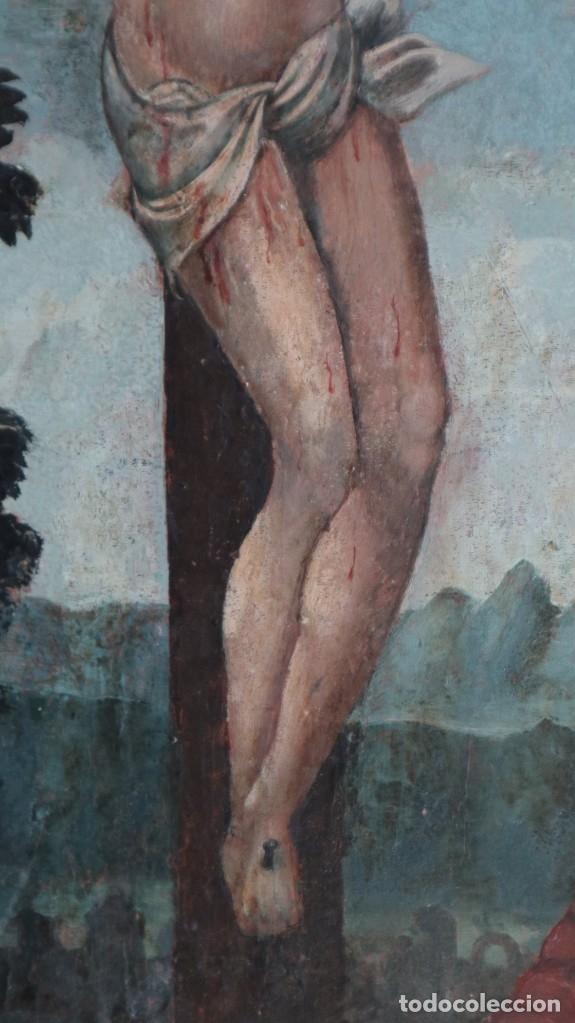 Arte: Calvario. Oleo sobre tabla. Escuela flamenca. Siglo XVI. - Foto 29 - 117955635