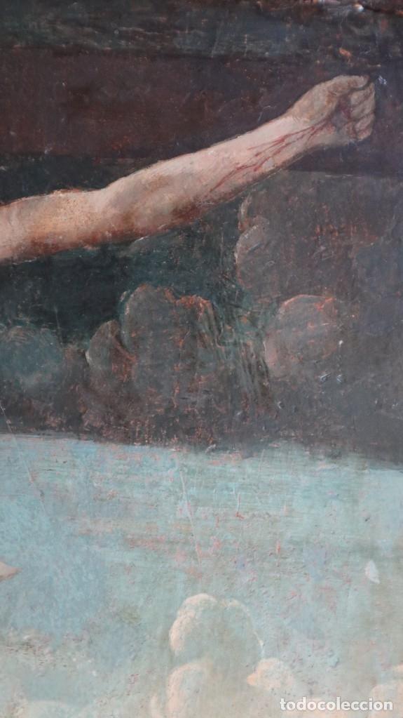 Arte: Calvario. Oleo sobre tabla. Escuela flamenca. Siglo XVI. - Foto 28 - 117955635