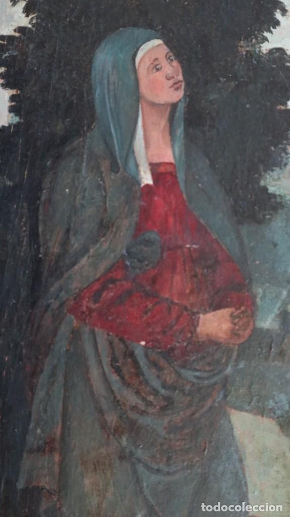Arte: Calvario. Oleo sobre tabla. Escuela flamenca. Siglo XVI. - Foto 30 - 117955635