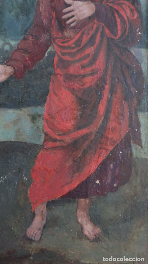Arte: Calvario. Oleo sobre tabla. Escuela flamenca. Siglo XVI. - Foto 32 - 117955635