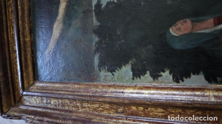 Arte: Calvario. Oleo sobre tabla. Escuela flamenca. Siglo XVI. - Foto 35 - 117955635