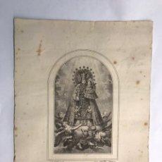 Arte: NUESTRA SEÑORA DE LOS DESAMPARADOS. LITOGRAFÍA V. AZNAR, CASA SANCHÍS VALENCIA (H.1890?). Lote 167606920