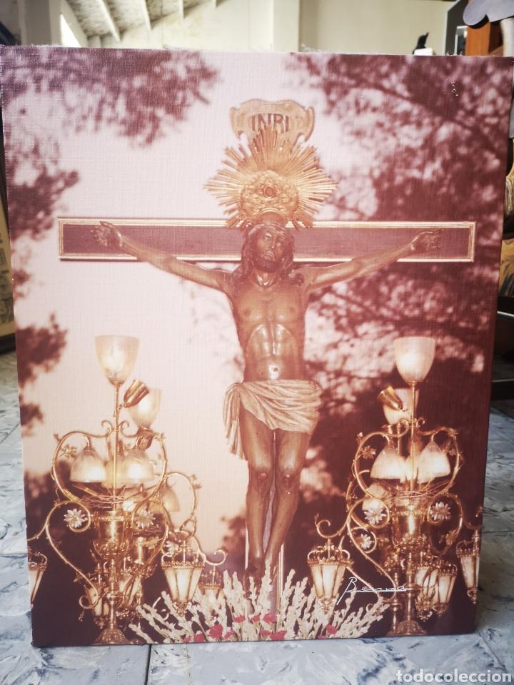 FOTOGRAFIA CRISTO EN PROCESIÓN, FOTOGRAFO BERNA, ONTINYENT, VALENCIA 40X50CM (Arte - Arte Religioso - Litografías)