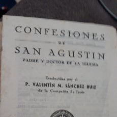 Arte: CONFESIONES DE SAN AGUSTIN.. Lote 167692716
