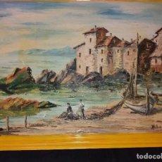 Arte: A.ROCAMORA INCREIBLE OLEO SOBRE LIENZO ANTIGUO PRECIOSO NECESITA RESTAURAR OCASIÓN UNICA. Lote 167711788