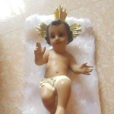 Arte: NIÑO JESÚS OJOS DE CRISTAL DE ESTUCO O ESCAYOLA FABRICADO LA TERESITA VICH. Lote 167732092