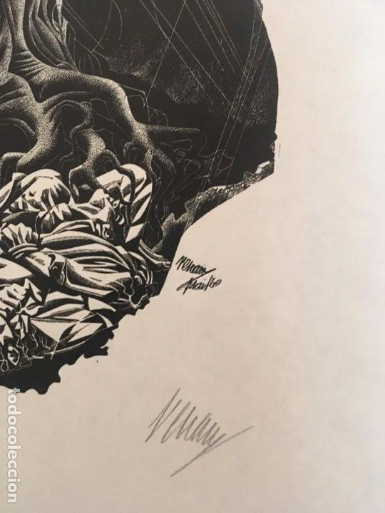 Arte: José Renau. Grabado firma en plancha y autógrafa. Der Baum ist noch nicht tot. Josep Renau. 1969 - Foto 3 - 167847476