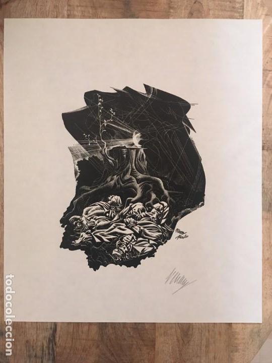 JOSÉ RENAU. GRABADO FIRMA EN PLANCHA Y AUTÓGRAFA. DER BAUM IST NOCH NICHT TOT. JOSEP RENAU. 1969 (Arte - Arte Religioso - Grabados)