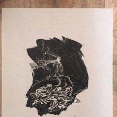 Arte: JOSÉ RENAU. GRABADO FIRMA EN PLANCHA Y AUTÓGRAFA. DER BAUM IST NOCH NICHT TOT. JOSEP RENAU. 1969. Lote 167847476