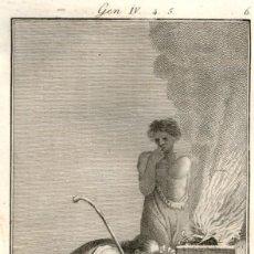 Arte: 1820 – ORIGINAL - LA BIBLIA - ANTIGUO TESTAMENTO - CARL SCHULER – FREIBURGO - OFRENDA CAIN. Lote 167863520