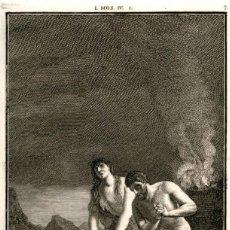 Arte: 1820 – ORIGINAL - LA BIBLIA - ANTIGUO TESTAMENTO - CARL SCHULER – FREIBURGO - CAIN MATA A ABEL. Lote 167864024