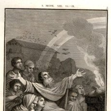 Arte: 1820 – ORIGINAL - LA BIBLIA - ANTIGUO TESTAMENTO - CARL SCHULER – FREIBURGO - ALTAR A GEHOVA. Lote 167864376