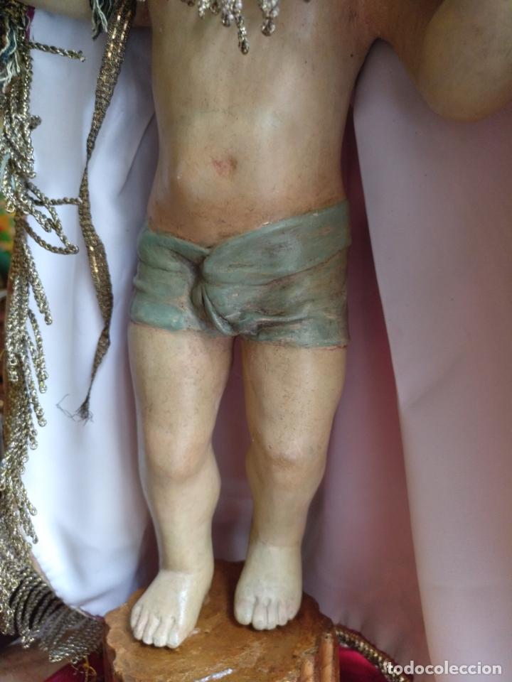 Arte: ANTIGUA TALLA EN MADERA DEL NIÑO JESUS DE LA BOLA , TALLA SIGLO XVIII EN UN FANAL - Foto 7 - 167868612