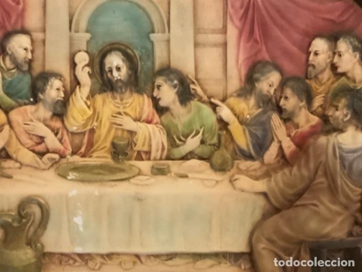Arte: Sagrada cena de estuco, policromada - Foto 2 - 167901236