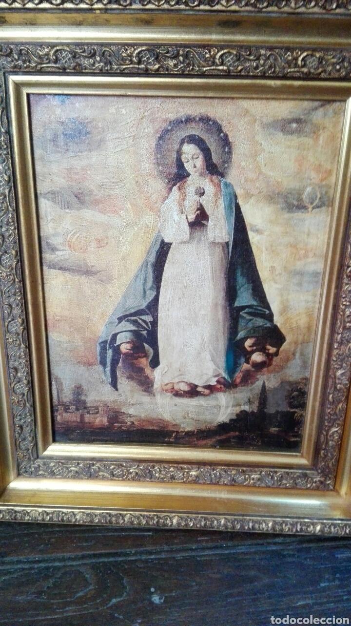 CUADRO CON VIRGEN 47 CM X 37 CM (Arte - Arte Religioso - Pintura Religiosa - Otros)