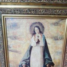 Arte: CUADRO CON VIRGEN 47 CM X 37 CM. Lote 161540922