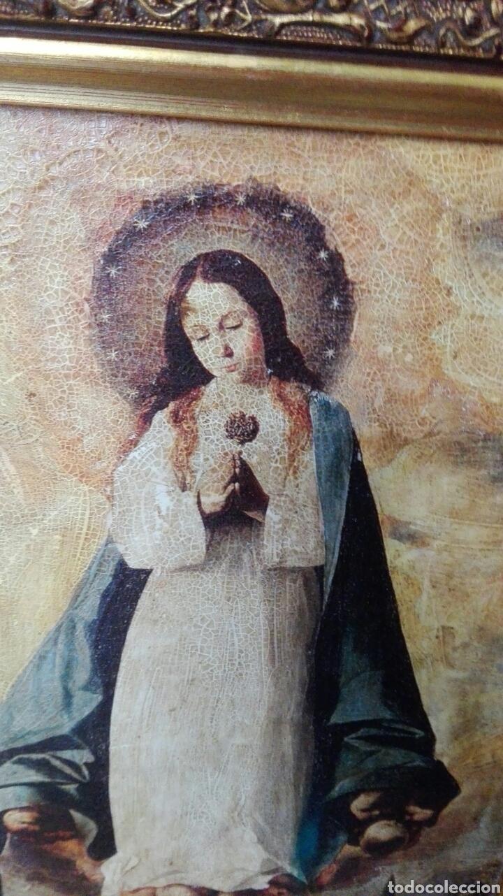 Arte: cuadro con virgen 47 cm x 37 cm - Foto 2 - 161540922