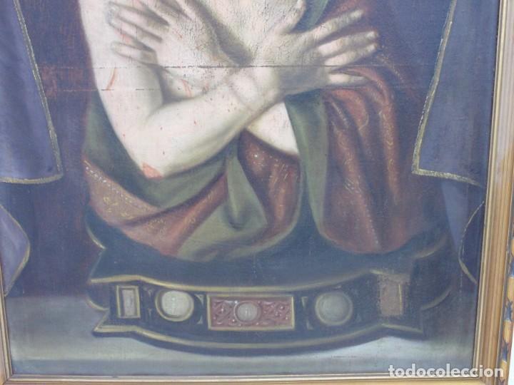Arte: EXTRAORDINARIO Y GRAN CUADRO AL OLEO DE UN ECCE HOMO - ESCUELA ESPAÑOLA S XVIII - Foto 5 - 167973512