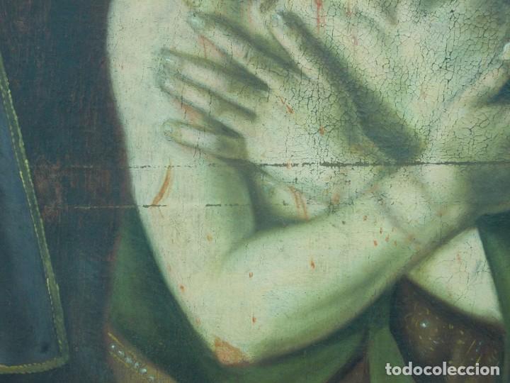 Arte: EXTRAORDINARIO Y GRAN CUADRO AL OLEO DE UN ECCE HOMO - ESCUELA ESPAÑOLA S XVIII - Foto 6 - 167973512