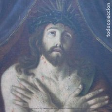 Arte: EXTRAORDINARIO Y GRAN CUADRO AL OLEO DE UN ECCE HOMO - ESCUELA ESPAÑOLA S XVIII. Lote 167973512