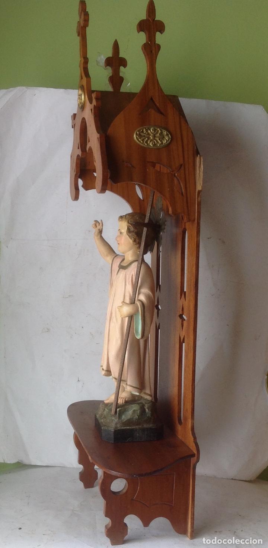 Arte: MUY ANTIGUA FIGURA OLOT , NIÑO JESUS CON LA CRUZ , EN UNA GRAN CAPILLA MODERNISTA - Foto 5 - 167985024