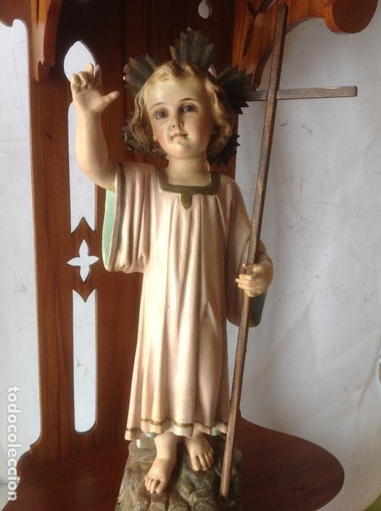 Arte: MUY ANTIGUA FIGURA OLOT , NIÑO JESUS CON LA CRUZ , EN UNA GRAN CAPILLA MODERNISTA - Foto 10 - 167985024