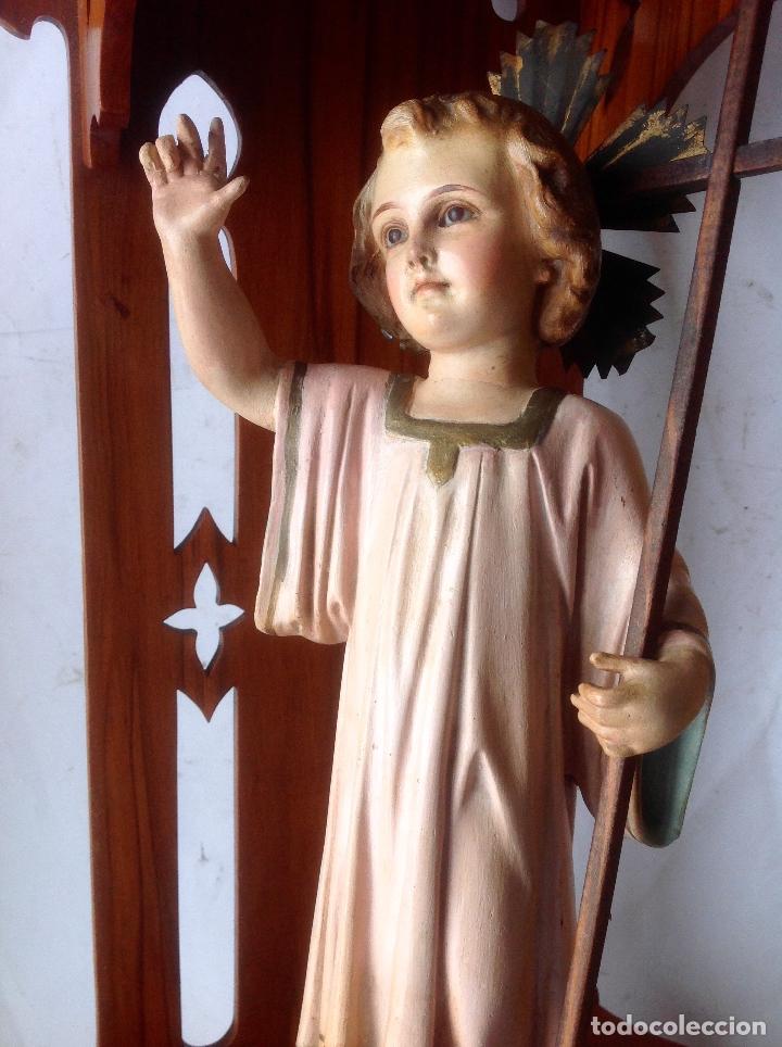Arte: MUY ANTIGUA FIGURA OLOT , NIÑO JESUS CON LA CRUZ , EN UNA GRAN CAPILLA MODERNISTA - Foto 11 - 167985024