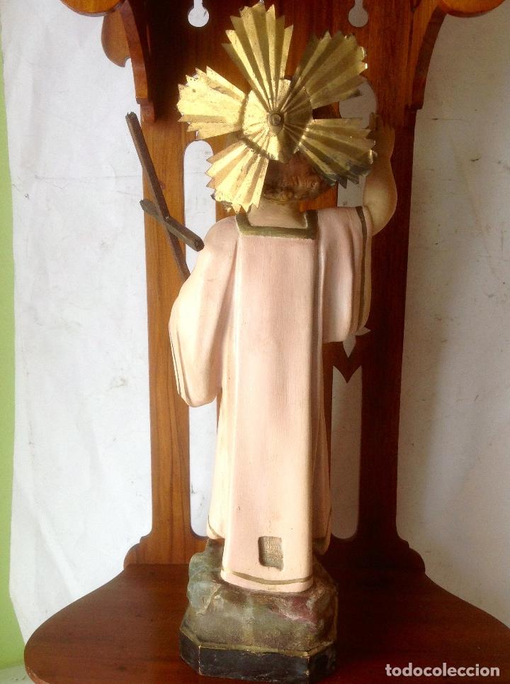 Arte: MUY ANTIGUA FIGURA OLOT , NIÑO JESUS CON LA CRUZ , EN UNA GRAN CAPILLA MODERNISTA - Foto 15 - 167985024
