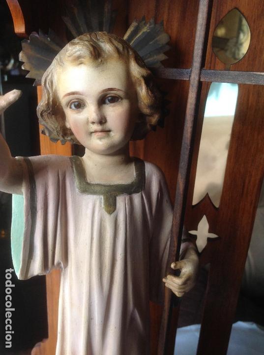 Arte: MUY ANTIGUA FIGURA OLOT , NIÑO JESUS CON LA CRUZ , EN UNA GRAN CAPILLA MODERNISTA - Foto 18 - 167985024
