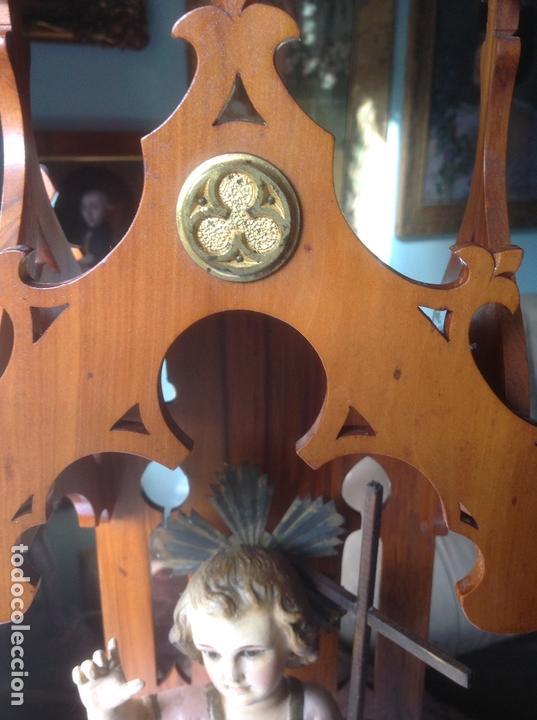 Arte: MUY ANTIGUA FIGURA OLOT , NIÑO JESUS CON LA CRUZ , EN UNA GRAN CAPILLA MODERNISTA - Foto 19 - 167985024