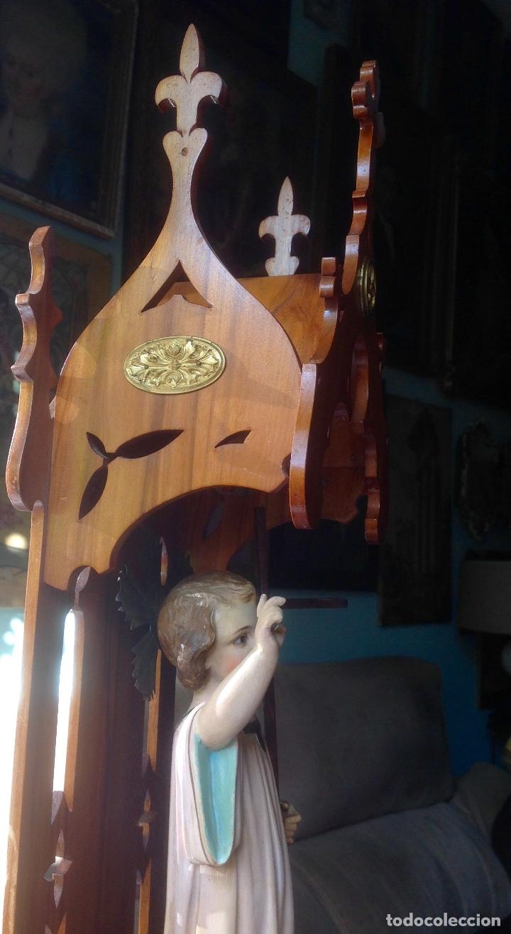 Arte: MUY ANTIGUA FIGURA OLOT , NIÑO JESUS CON LA CRUZ , EN UNA GRAN CAPILLA MODERNISTA - Foto 20 - 167985024