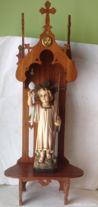 Arte: MUY ANTIGUA FIGURA OLOT , NIÑO JESUS CON LA CRUZ , EN UNA GRAN CAPILLA MODERNISTA - Foto 24 - 167985024