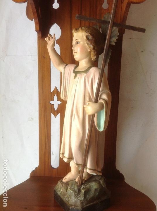 Arte: MUY ANTIGUA FIGURA OLOT , NIÑO JESUS CON LA CRUZ , EN UNA GRAN CAPILLA MODERNISTA - Foto 26 - 167985024