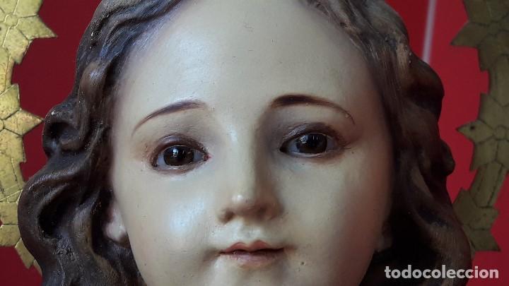Arte: EXTRAORDINARIA ESCULTURA , VIRGEN NIÑA o NIÑA MARIA DEL RENACIMIENTO DE OLOT - Foto 3 - 167992672