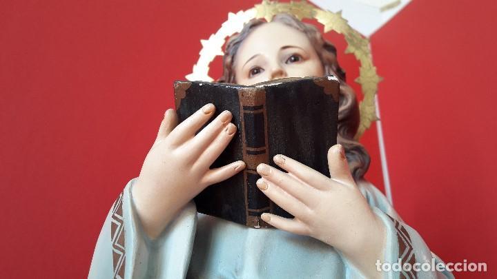 Arte: EXTRAORDINARIA ESCULTURA , VIRGEN NIÑA o NIÑA MARIA DEL RENACIMIENTO DE OLOT - Foto 4 - 167992672