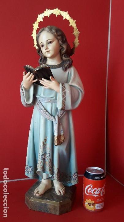 EXTRAORDINARIA ESCULTURA , VIRGEN NIÑA O NIÑA MARIA DEL RENACIMIENTO DE OLOT (Arte - Arte Religioso - Escultura)
