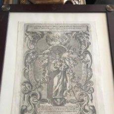 Arte: GRABADO DE LA VIRGEN BLANCA DE VITORIA, S. XVIII. Lote 168002388