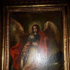 Arte: CUADRO POSIBLE COLONIAL ANTIGUO SANTO ARCANGEL. Lote 168009004