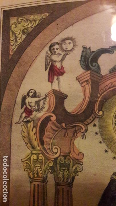 Arte: Litografia coloreada Virgen Peñarroya La Solana ( CIudad Real )S.XIX - Foto 7 - 168058512