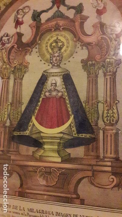 LITOGRAFIA COLOREADA VIRGEN PEÑARROYA LA SOLANA ( CIUDAD REAL )S.XIX (Arte - Arte Religioso - Litografías)