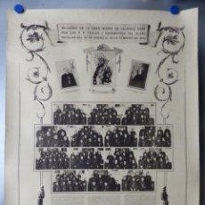 Arte: CARTEL VALENCIA - RECUERDO DE LA GRAN MISION DADA POR LOS P. P. PAULES Y SACERDOTES DEL CLERO - 1949. Lote 168085068