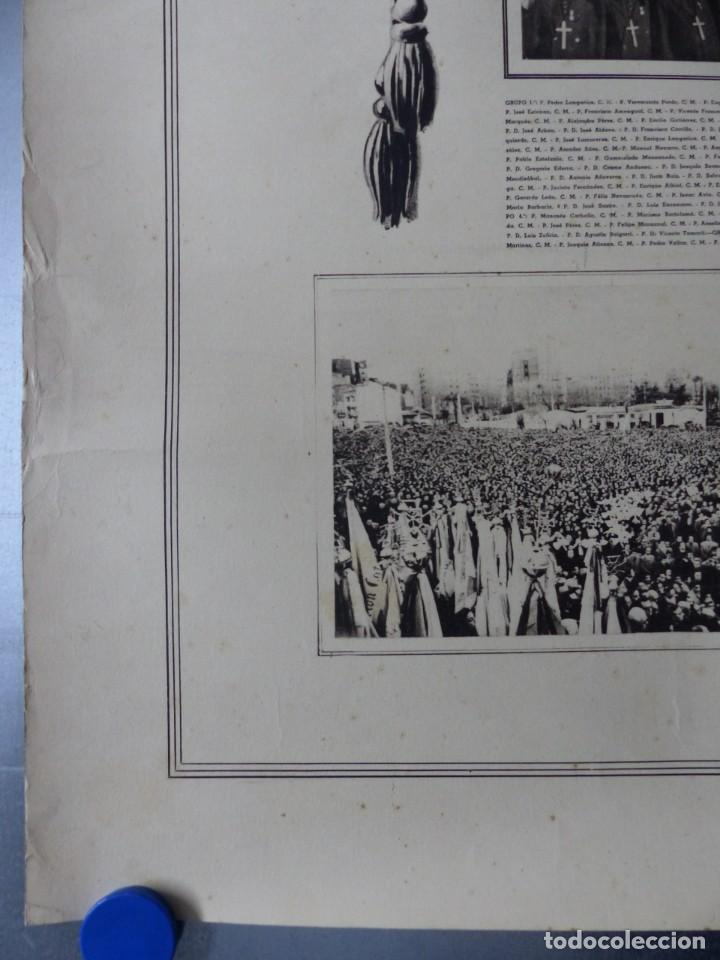 Arte: CARTEL VALENCIA - RECUERDO DE LA GRAN MISION DADA POR LOS P. P. PAULES Y SACERDOTES DEL CLERO - 1949 - Foto 2 - 168085068