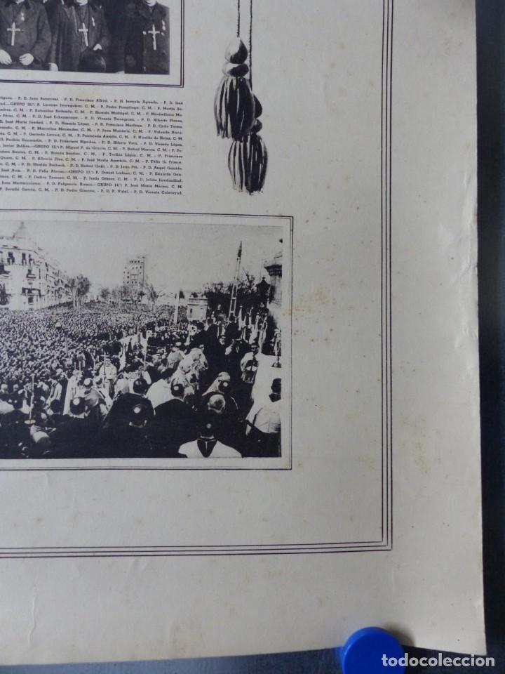 Arte: CARTEL VALENCIA - RECUERDO DE LA GRAN MISION DADA POR LOS P. P. PAULES Y SACERDOTES DEL CLERO - 1949 - Foto 3 - 168085068