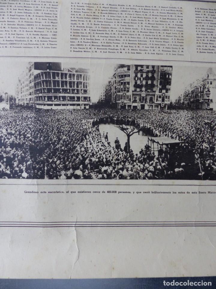 Arte: CARTEL VALENCIA - RECUERDO DE LA GRAN MISION DADA POR LOS P. P. PAULES Y SACERDOTES DEL CLERO - 1949 - Foto 4 - 168085068