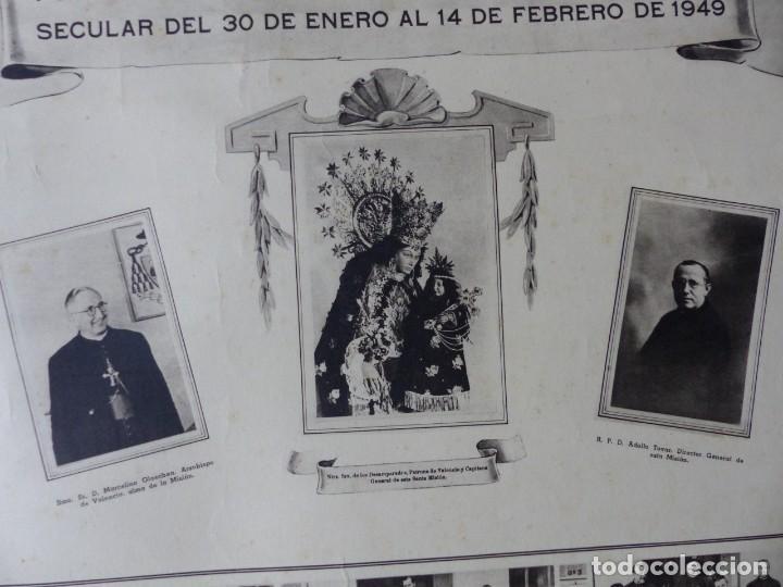 Arte: CARTEL VALENCIA - RECUERDO DE LA GRAN MISION DADA POR LOS P. P. PAULES Y SACERDOTES DEL CLERO - 1949 - Foto 8 - 168085068