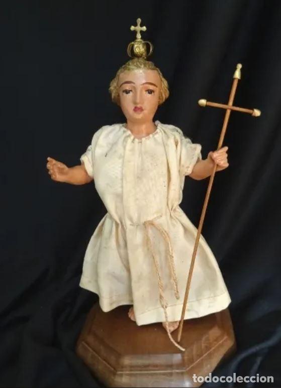 Arte: talla en madera figura niño jesus de la bola. colonial.siglo XVIII. - Foto 2 - 187177405